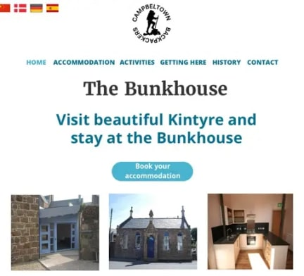 The Bunkhouse home webpage