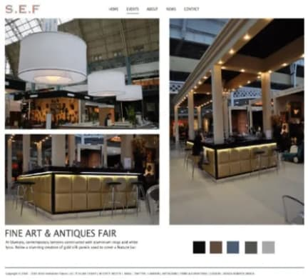 Example of an exhition page on the Stitch Exhibtion Fabrics website