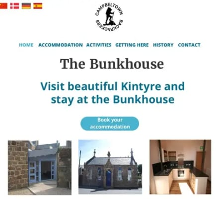 Bunkhouse home webpage
