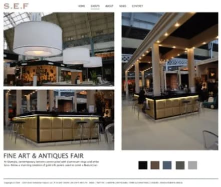 Example of exhition work webpage