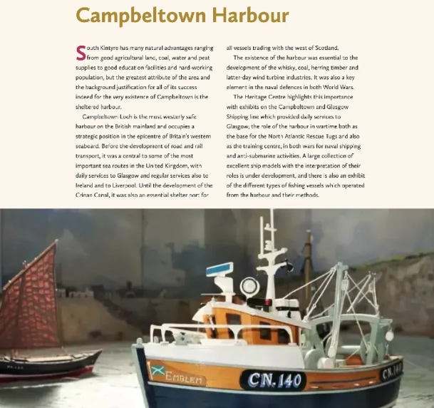 Campbeltown Harbour from the collection webpages
