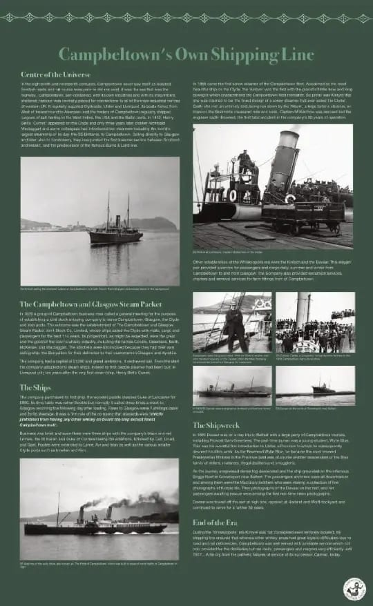 Campbeltown's Own Shipping Line panel for exhibition