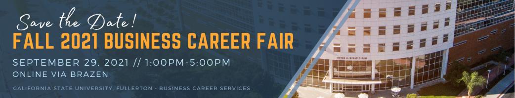 Fall 2021 Business Career Fair Banner