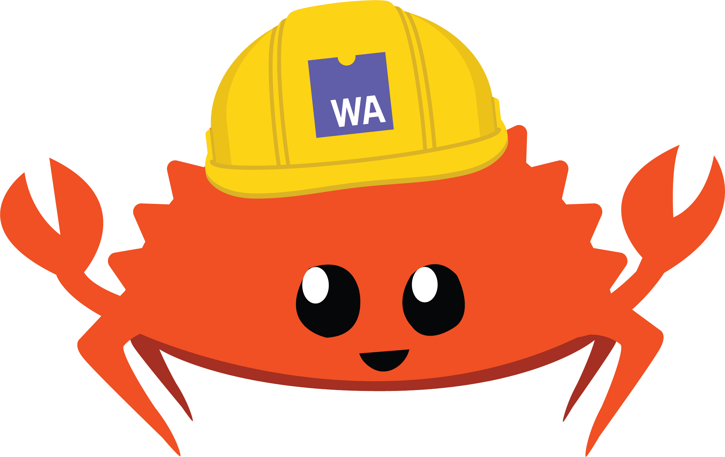 Rust/WASM crustacean logo