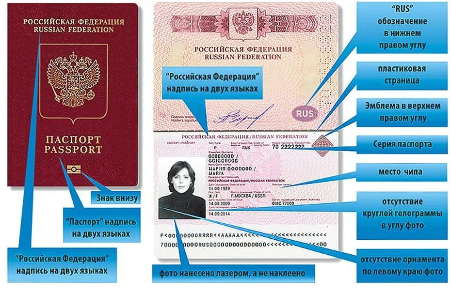 Где находится серийный (идентификационный) номер паспорта?