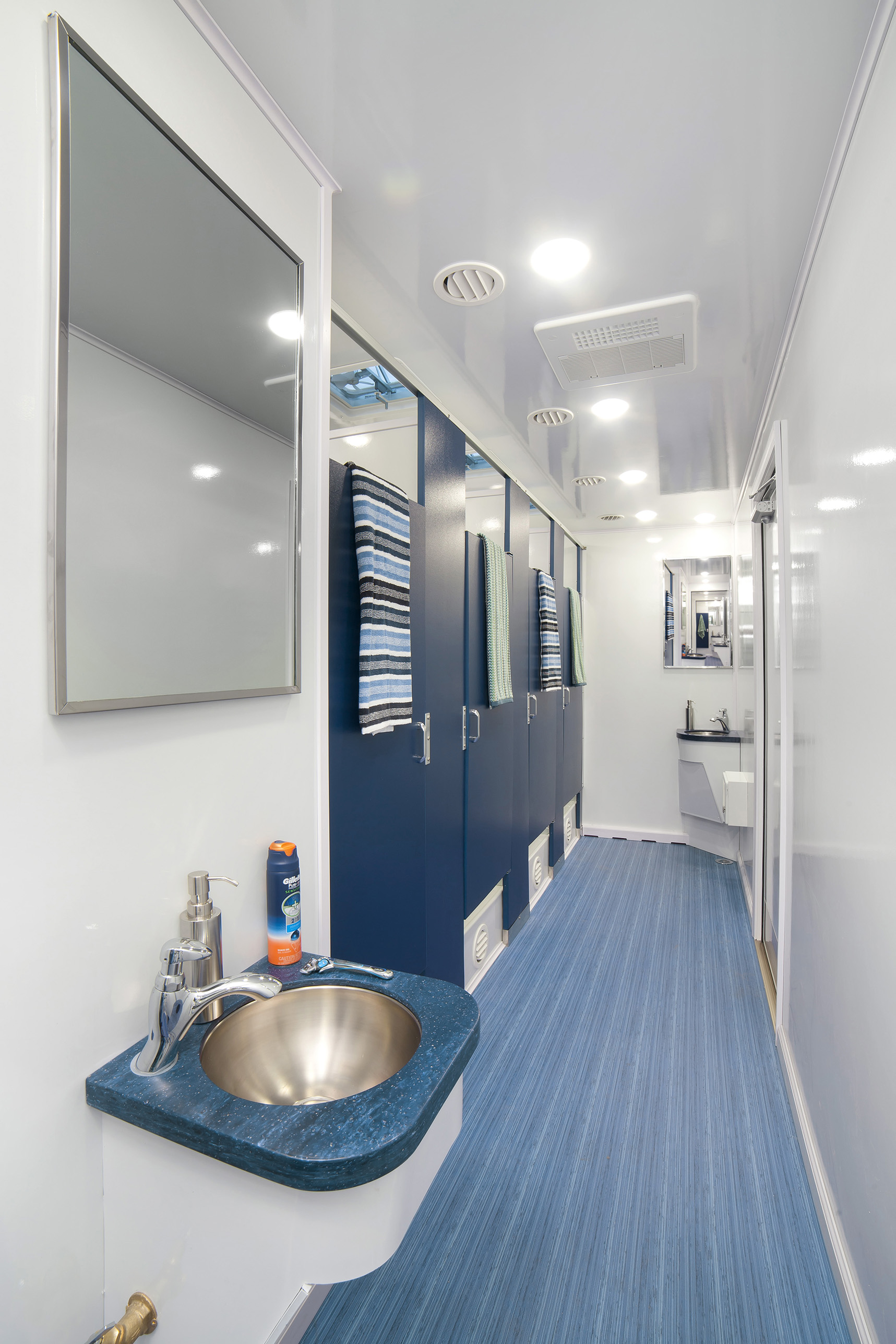 Restroom Trailers, Multiple Stall ADA Bathroom Trailers -Texas Outhouse