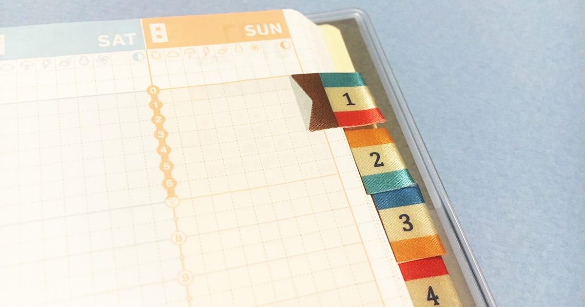 ジブン手帳にMIDORIのインデックスラベルシールがぴったりサイズ