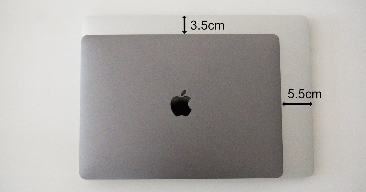 MacBook Pro13インチと16インチの比較