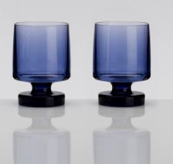 Acrylic Heavy Base Goblets Blue