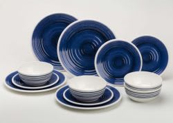 Flamefield Azure 12 Piece Dinner Set