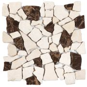Beige-Brown Opus Mosaic Marble Interlocking