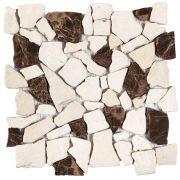 Beige-Brown Opus Mosaic Marble Interlocking