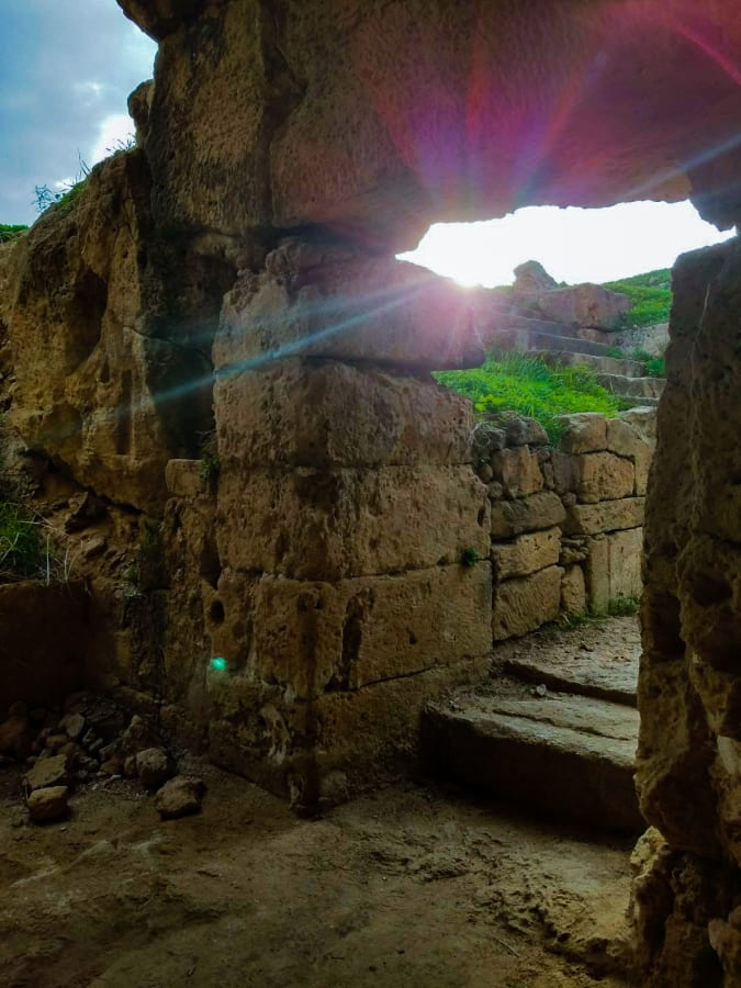 Sun Rays Streaming Through an Ancient Ruin
