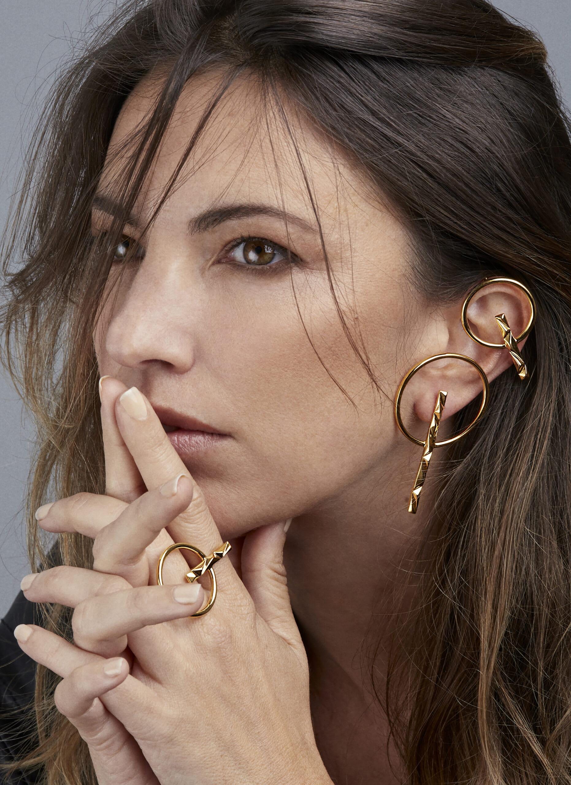 """""""Orbit Earrings by Soledad Lowe on model"""""""