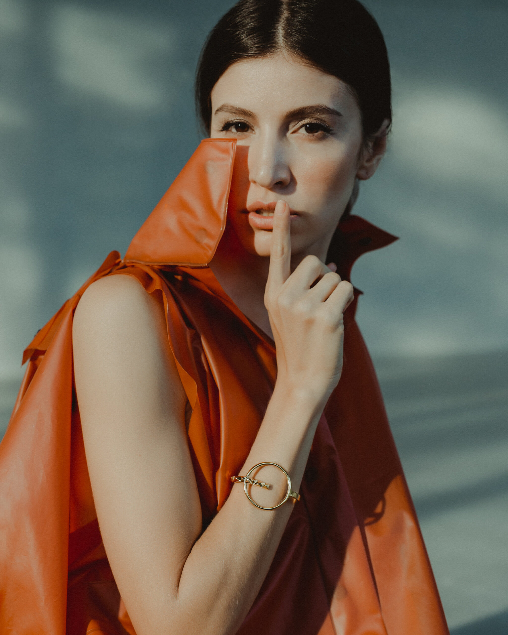 """Orbit Cuff by Soledad Lowe on model"""