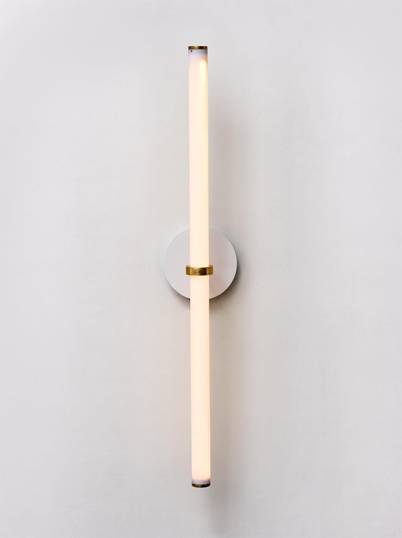 """Naama Hofman Light Objects 014 Brass and ivory wall mount"""