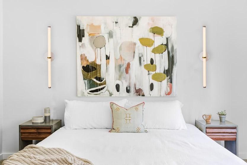 """Naama Hofman Light Objects 014 Brass and ivory wall mount bedroom"""