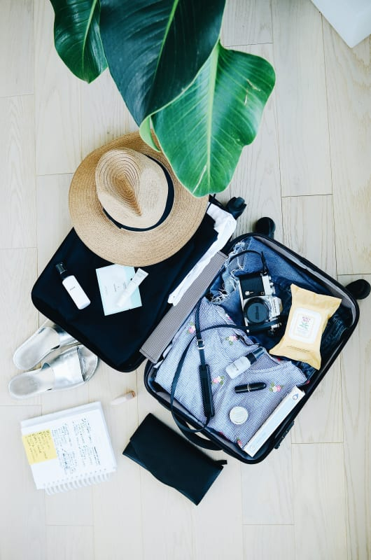 Reiseplanung - Reise planen - Koffer Packen
