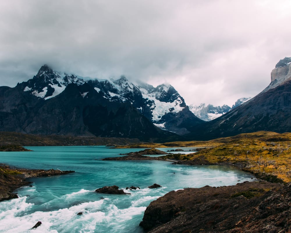 River and mountain in Patagonia