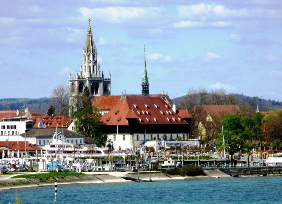 Panorama von Konstanz am Bodensee in Baden-Württemberg