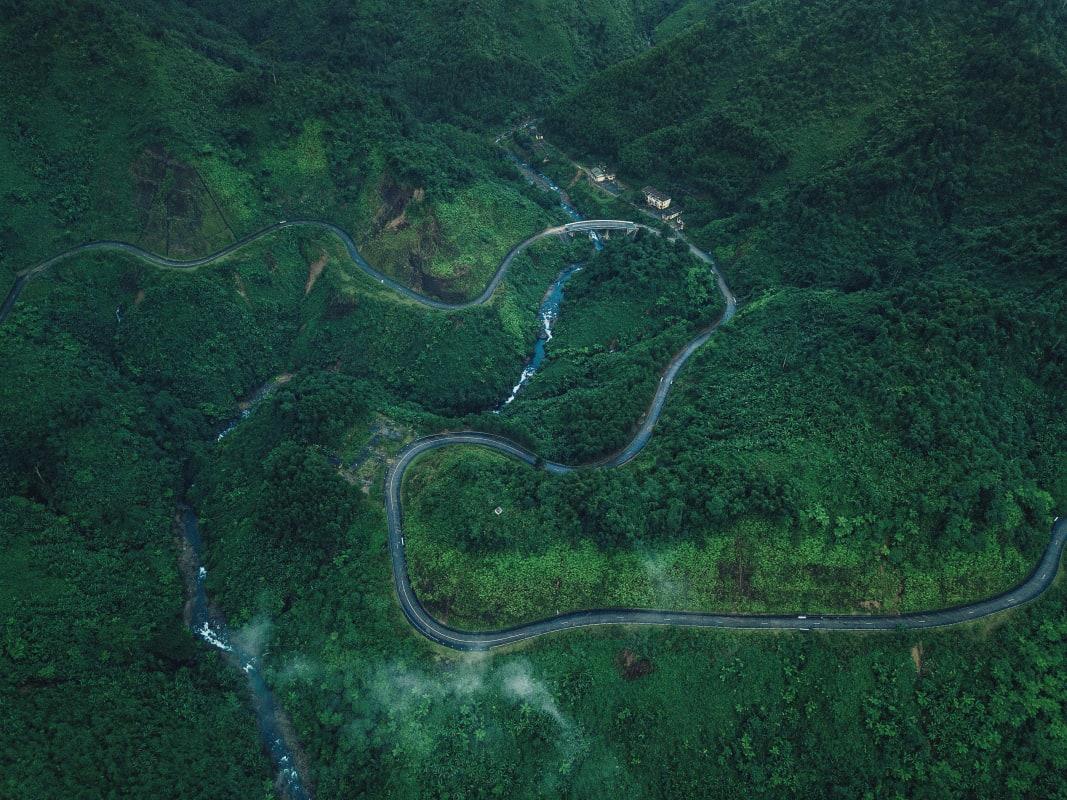 Motorradstrecke in Vietnam für Motorrad Reisepartner.