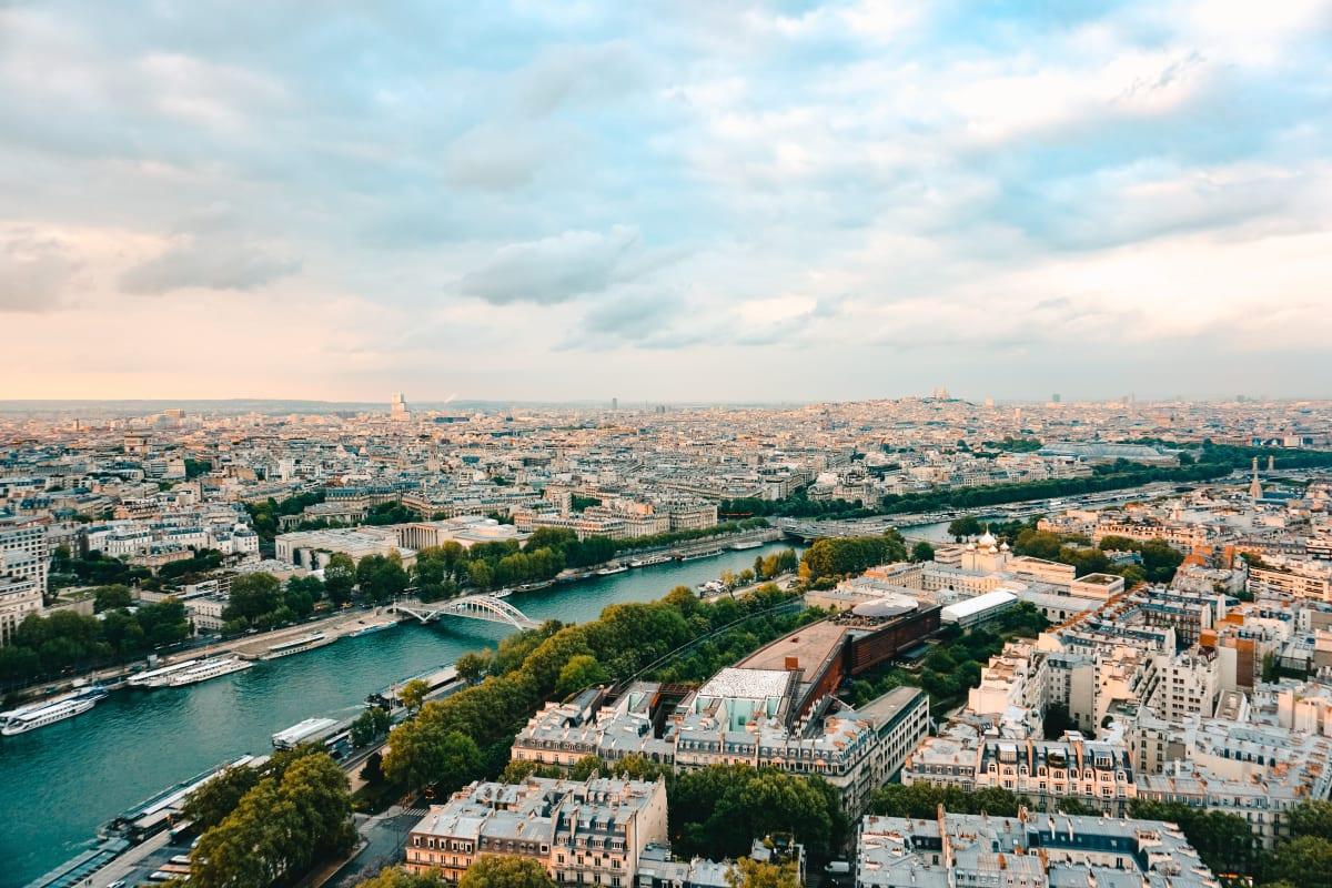 a birdseye view of Paris