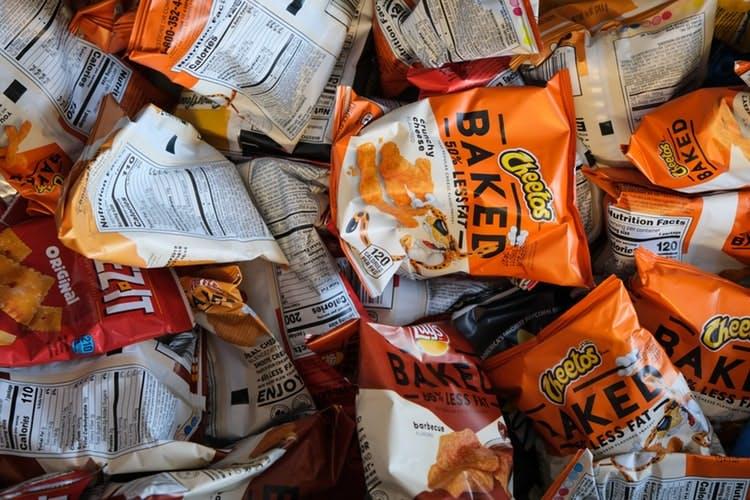 loads of packets of little crisps