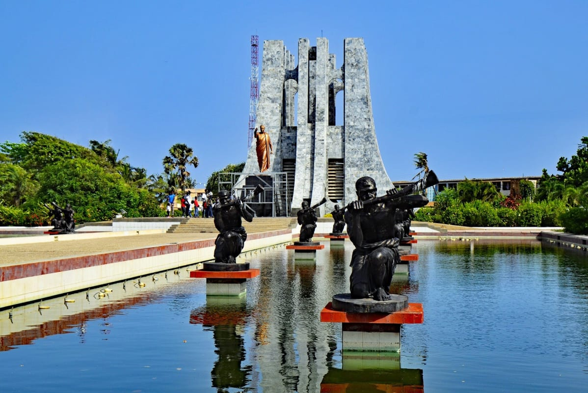 Kwame Krumah National Park und Mausoleum in Accra