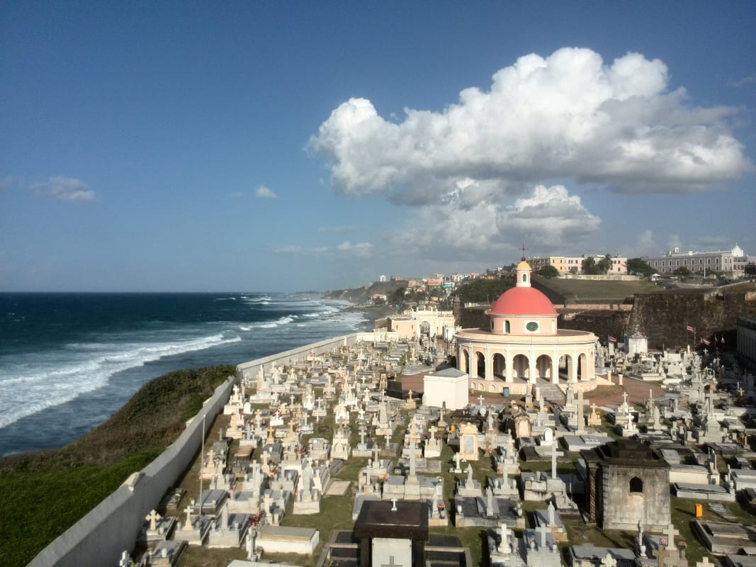 Famous cemetery in San Juan Puerto Rico is a great option for winter visits