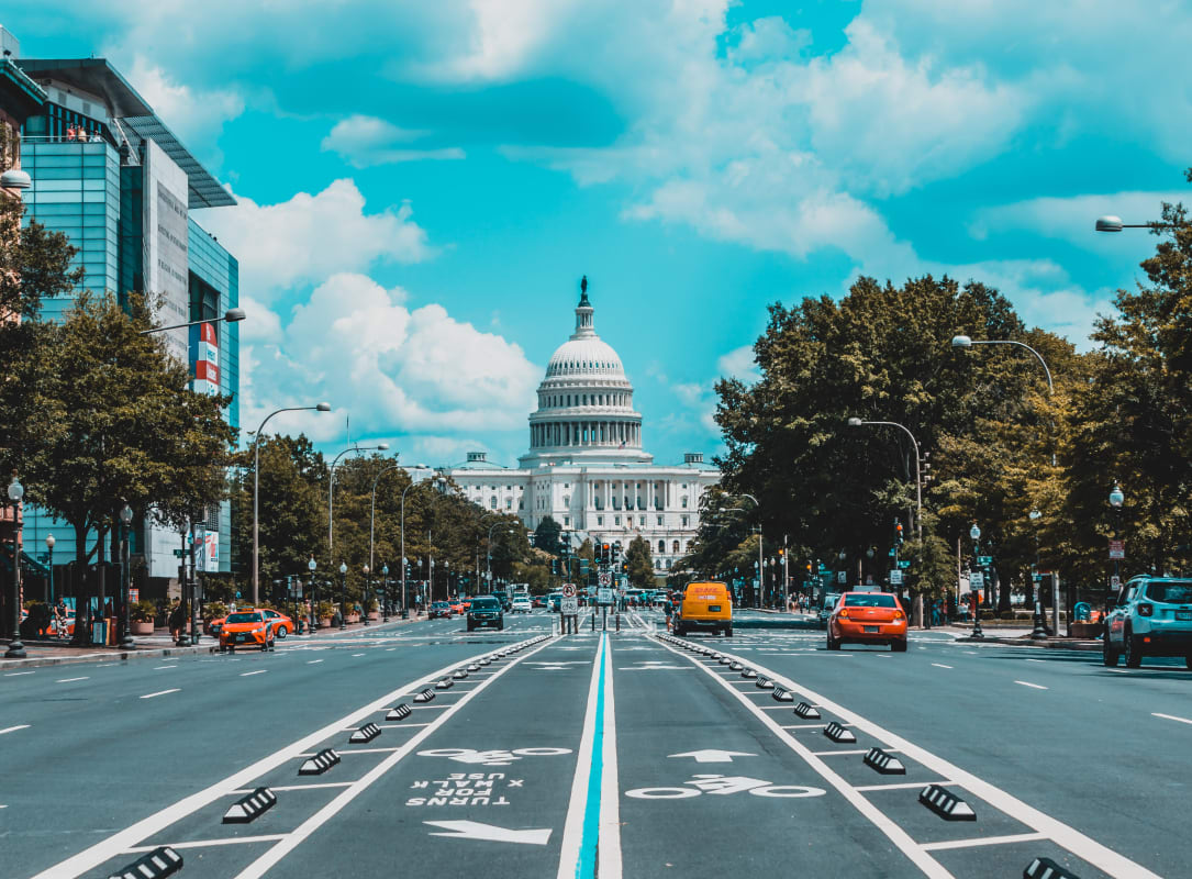 road in Washington DC