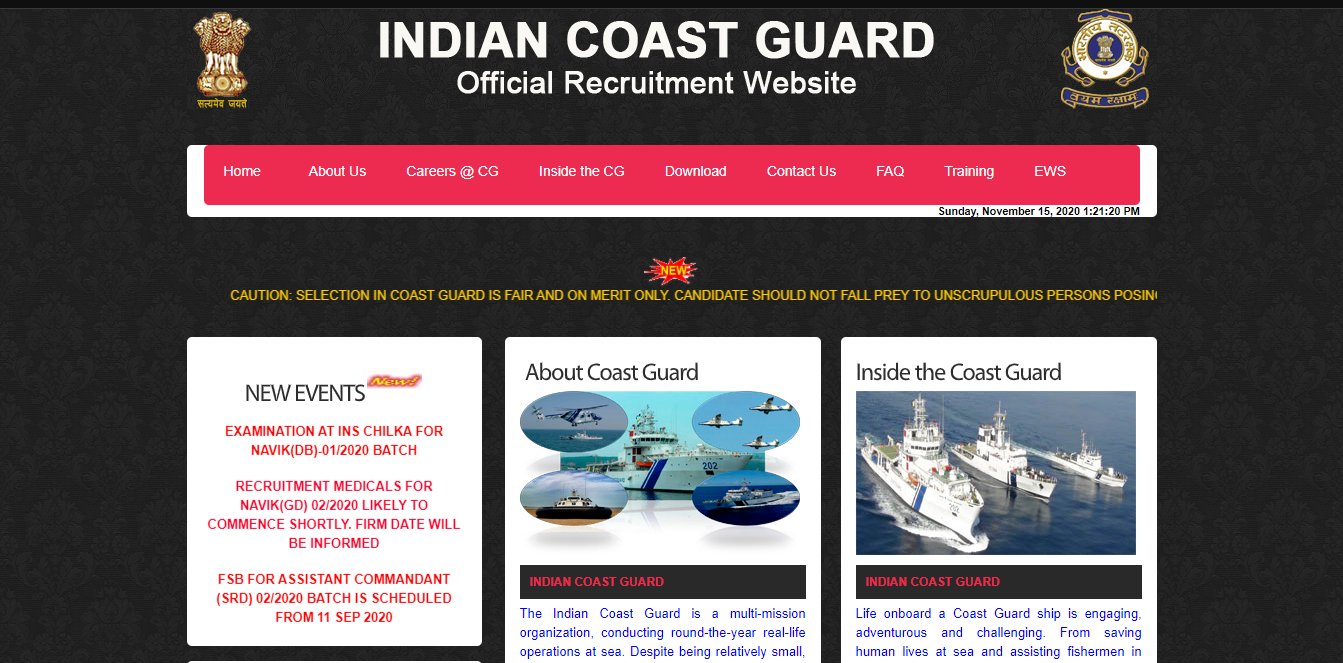 latest government vacancies in Indian Coast Guard, Indian Navy Job for 10th pass, 10th pass govt vacancy in all india, central govt job, Latest Government Vacancies in Indian Coast Guard for 10th pass Govt Vacancy