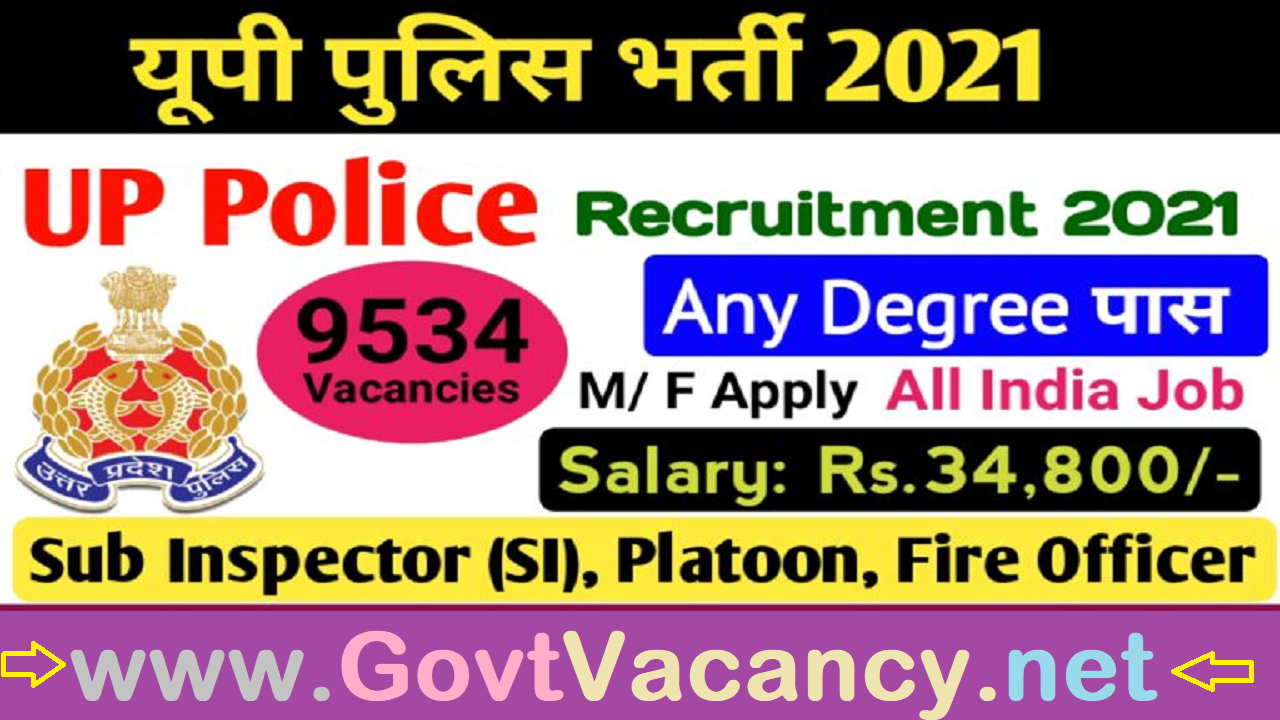 latest government vacancies in Uttar Pradesh Police for Graduates, Govt Vacancy in UP Police
