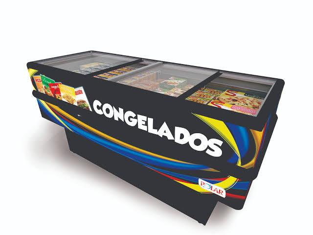 ILHA PARA CONGELADOS MIP VIDRO RETO 2000