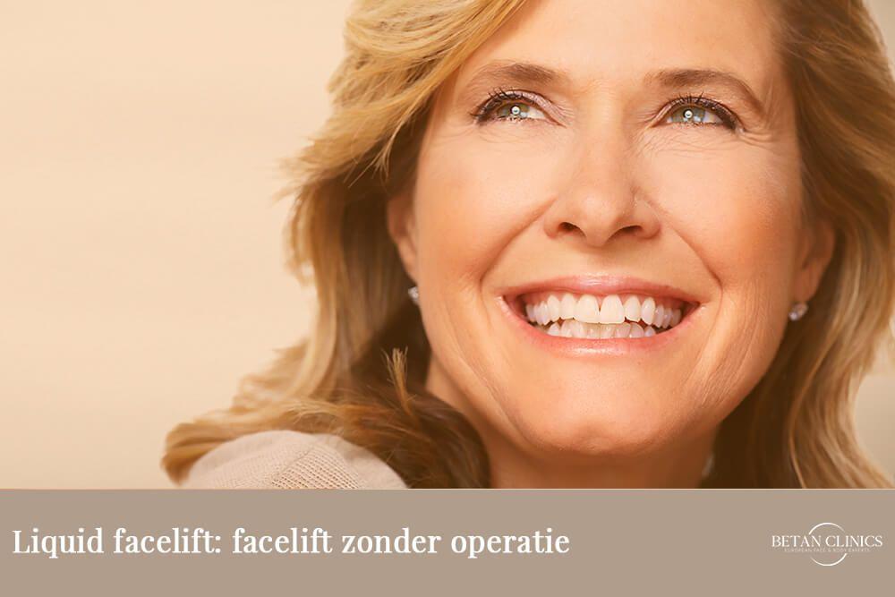 Liquid facelift: facelift zonder operatie