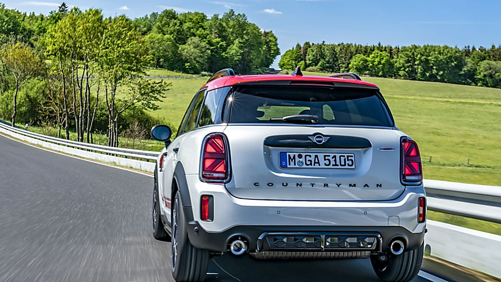John Cooper Works Countryman rear and new exhausts