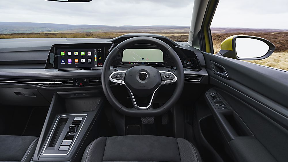 2020 Volkswagen Golf Mk8 new instrument electronics, connectivity, and interfaces dashboard