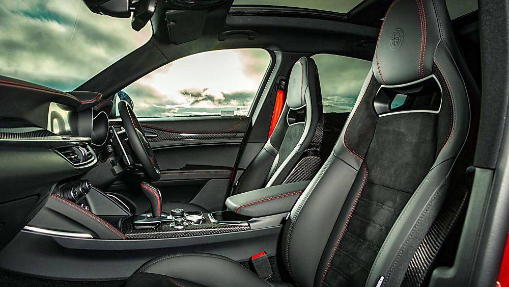 Alfa Romeo Stelvio Quadrifoglio Verde Interior Front Side
