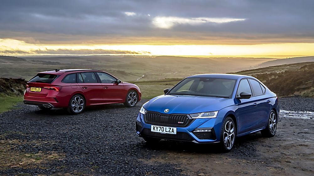 SKODA: The all-new Octavia vRS Front and Rear
