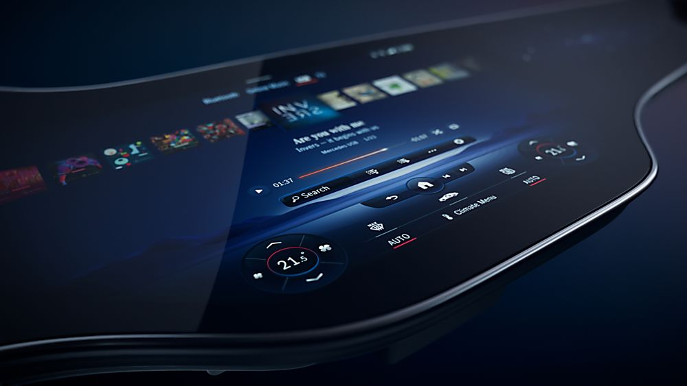 MERCEDES-BENZ: New EQS to get full-width MBUX Hyperscreen Apps