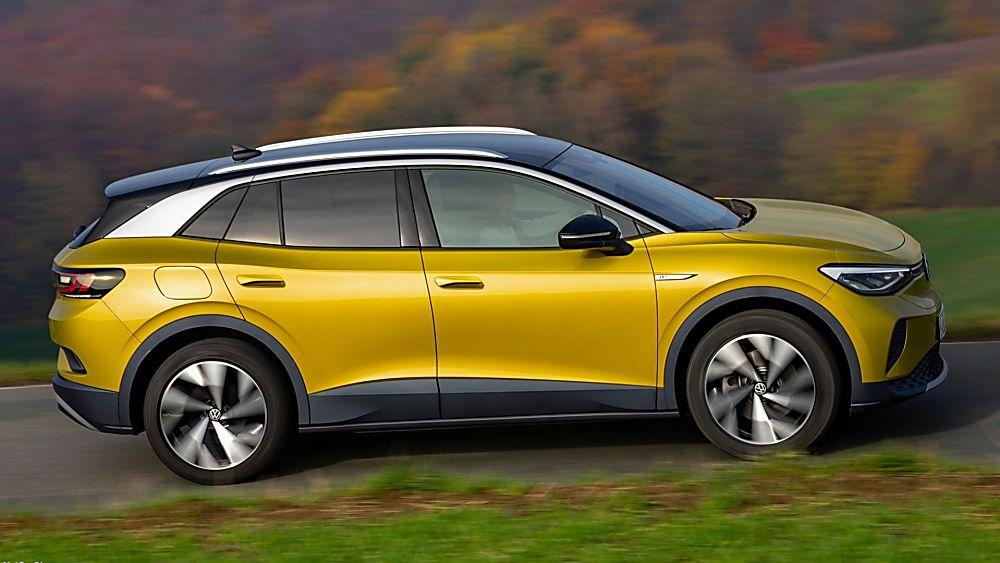VOLKSWAGEN: Order books open for ID.4 electric SUV Hero Honey Yellow