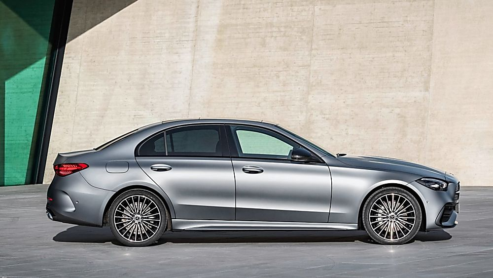 MERCEDES-BENZ: New C-Class saloon and estate revealed - Side