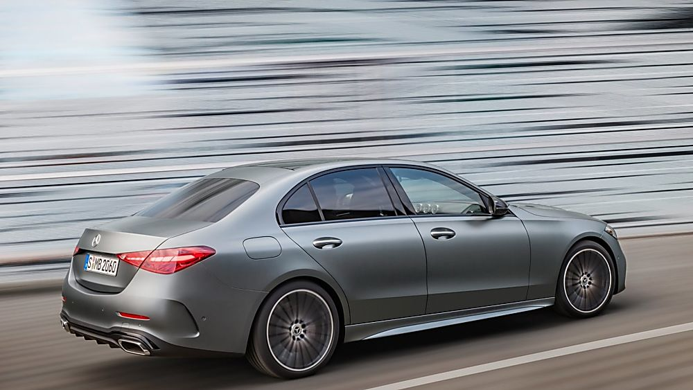 MERCEDES-BENZ: New C-Class saloon and estate revealed - Hero Rear Side