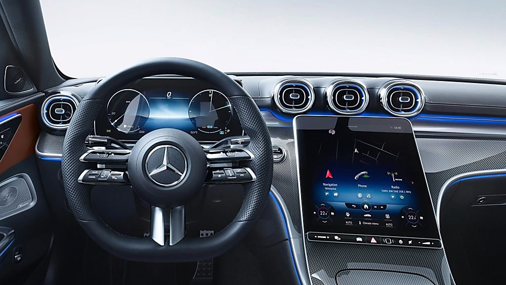 MERCEDES-BENZ: New C-Class saloon and estate revealed - Cockpit