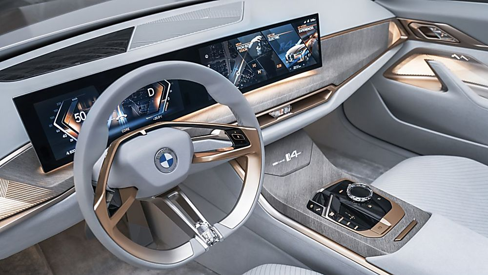 BMW:  First images of all-new i4 EV saloon revealed Cockpit
