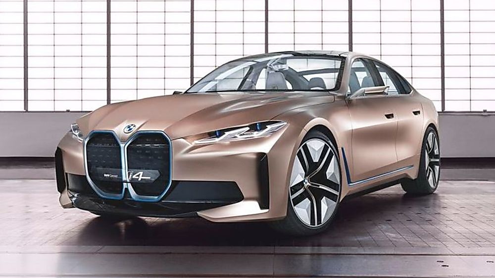 BMW: First images of all-new i4 EV saloon revealed Front Side