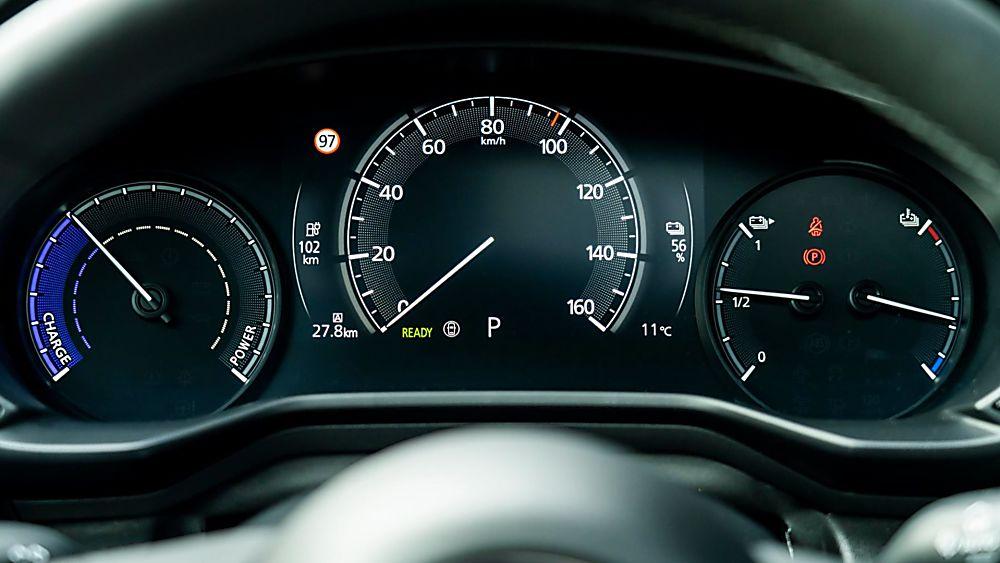 Review: Mazda MX-30 EV Dashboard