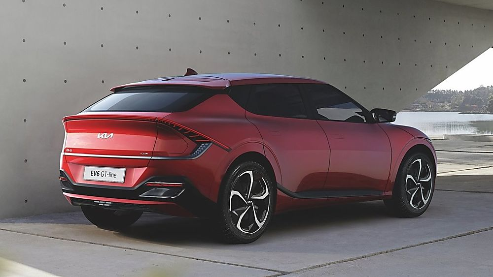 KIA:  All-new EV6 electric car now on sale Hero Red Rear