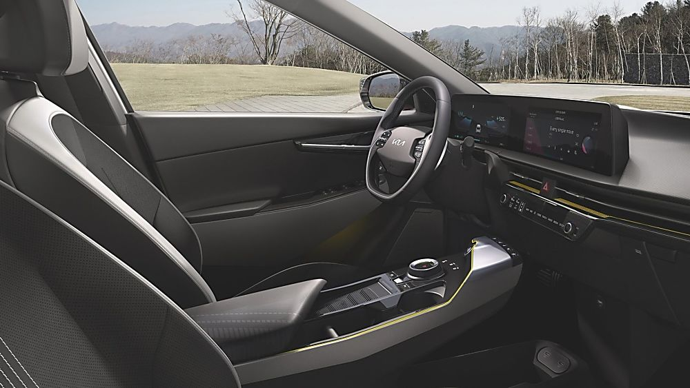 KIA:  All-new EV6 electric car now on sale Interior Front