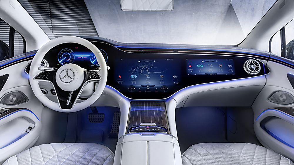MERCEDES-BENZ:  EQS luxury EV saloon breaks cover - Cockpit