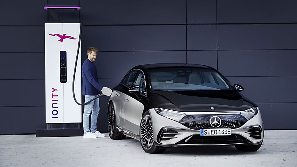 MERCEDES-BENZ:  EQS luxury EV saloon breaks cover - Charging
